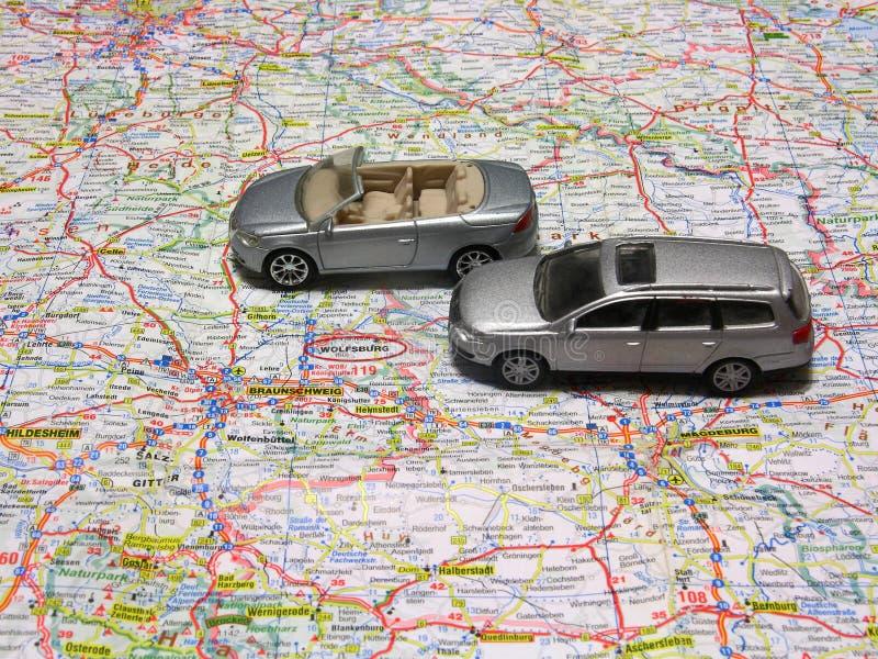 De Kaart van Duitsland De productie van de Wolfsburgstad van Volkswagen royalty-vrije stock foto