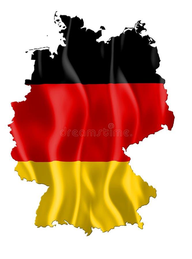 De kaart van Duitsland met vlag royalty-vrije illustratie