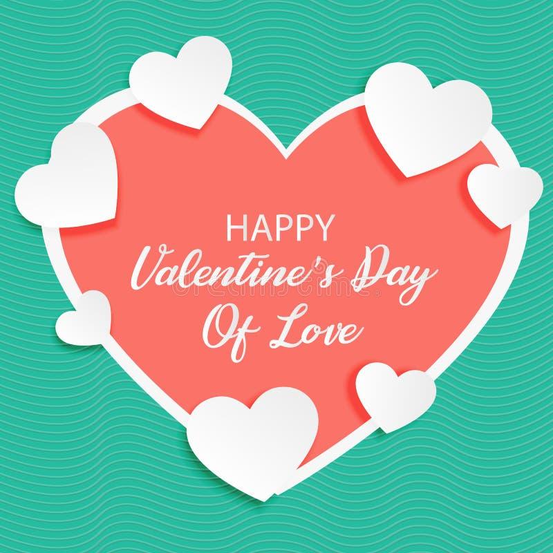 De kaart van een valentijnskaart van liefde stock illustratie