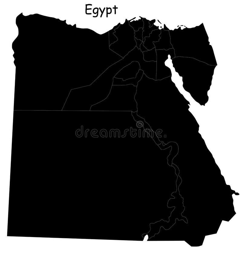De kaart van Egypte stock illustratie