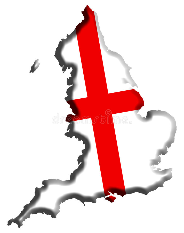 De Kaart van Engeland royalty-vrije illustratie