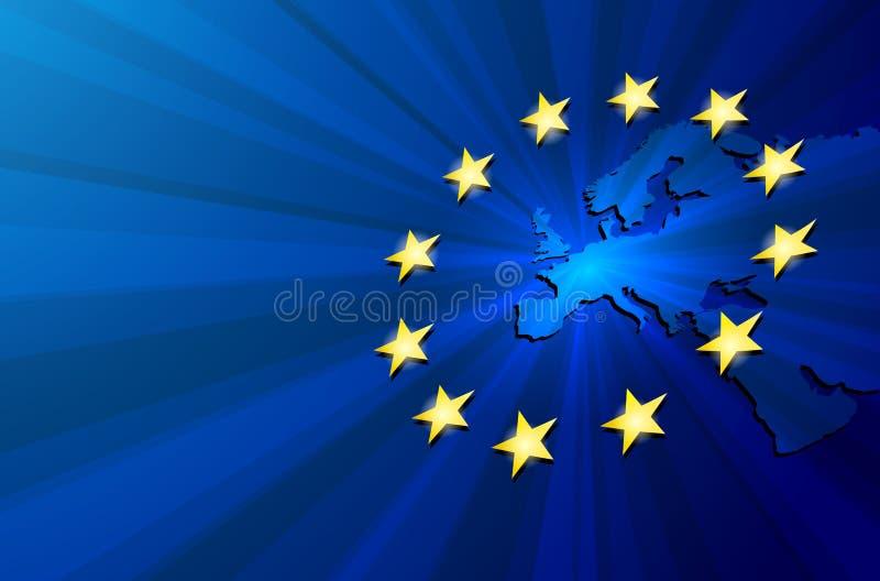 De kaart van Europa royalty-vrije illustratie