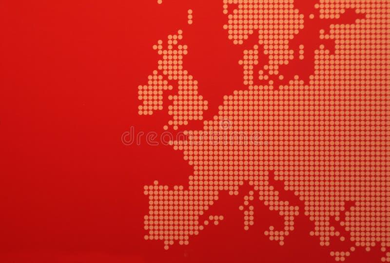 De kaart van Europa stock afbeelding