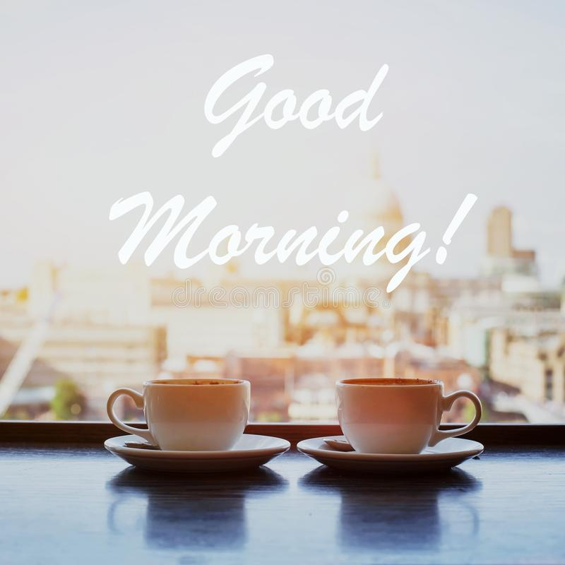 De kaart van de goedemorgen royalty-vrije stock foto