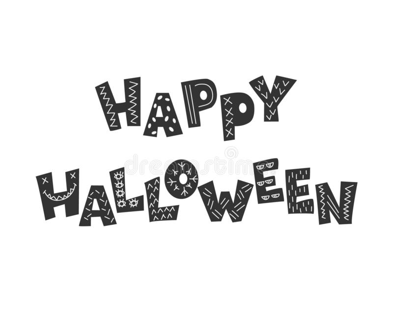 De kaart van de groet voor Halloween royalty-vrije illustratie