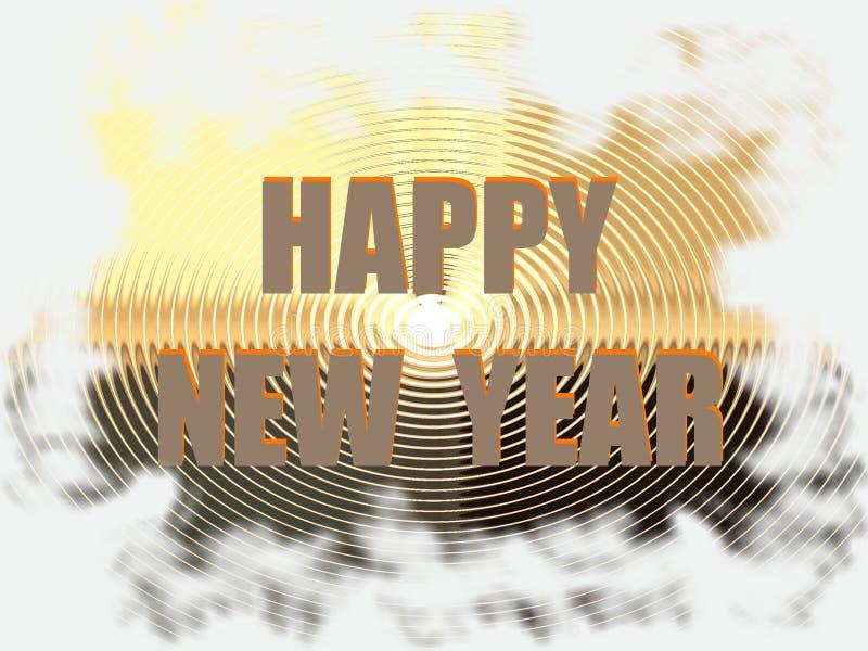 De Kaart van de groet voor Nieuwjaar stock foto