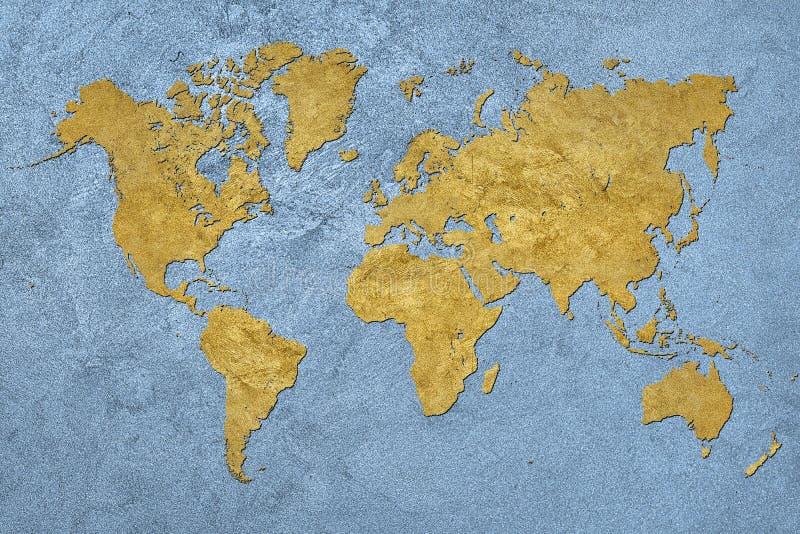 De kaart van Grunge van de wereld Uitstekende stijl royalty-vrije stock foto's