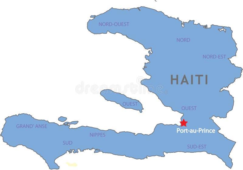 De kaart van Haïti royalty-vrije illustratie