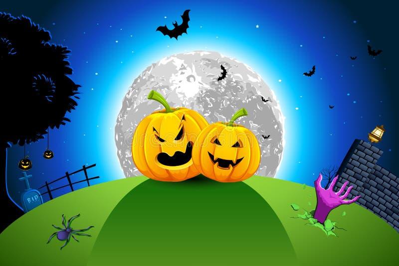 De Kaart van Halloween stock illustratie