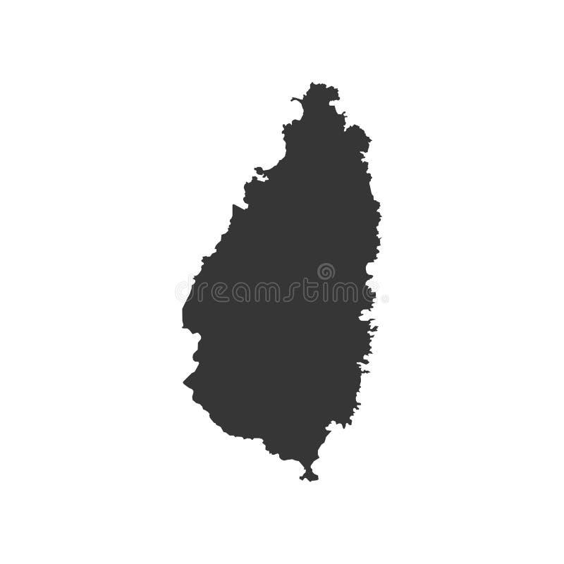 De kaart van heilige Lucia stock illustratie