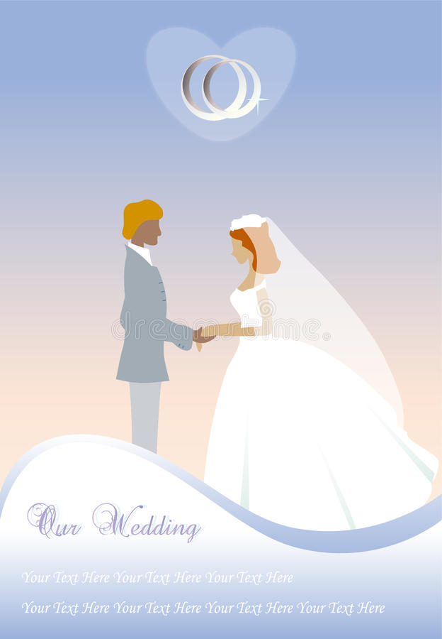 De kaart van het huwelijk vector illustratie