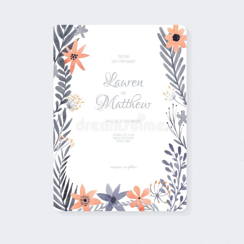 De kaart van het huwelijk stock illustratie