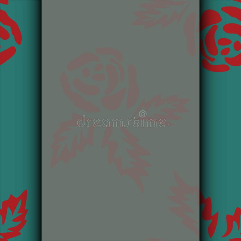 De kaart van het huwelijk of uitnodiging met abstracte bloemenachtergrond De kaart van de groet in grunge of retro stijl Kleurrij vector illustratie