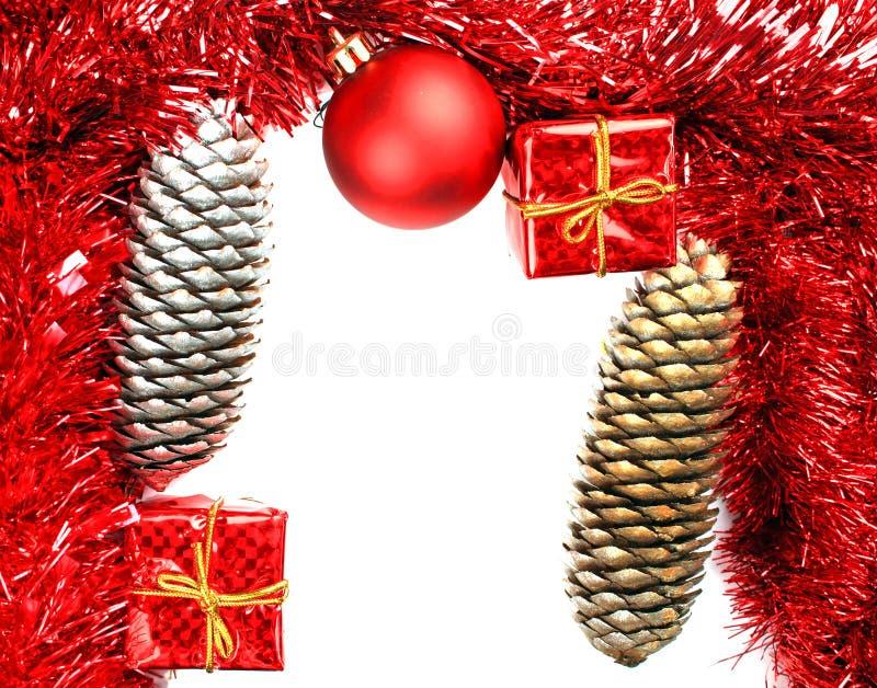 De kaart van het Kerstmiskader stock afbeeldingen