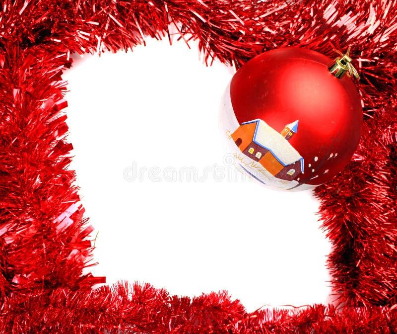 De kaart van het Kerstmiskader stock foto's