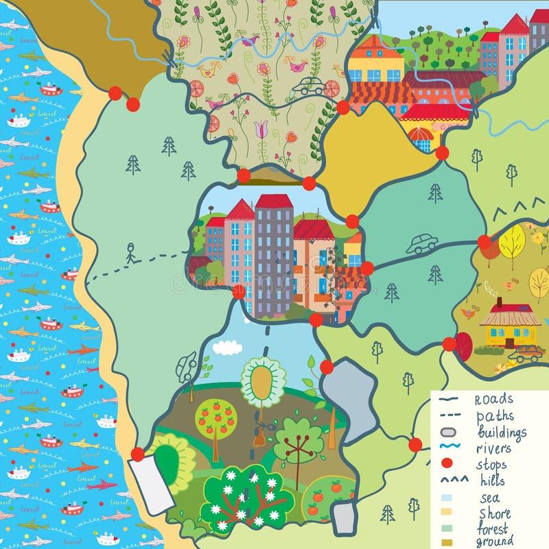 De kaart van het kind met grappige patronen royalty-vrije illustratie