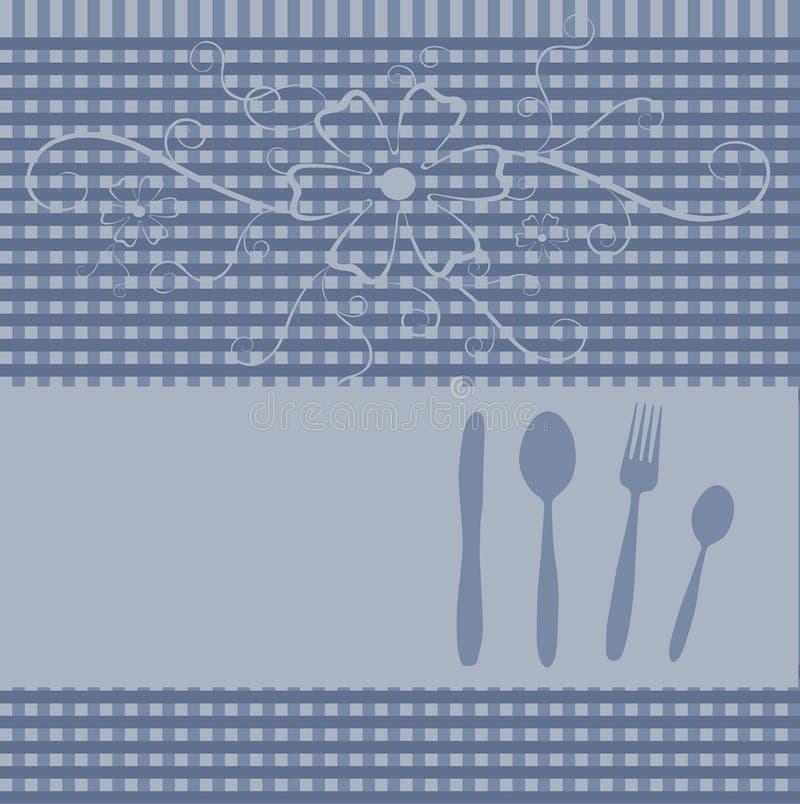 De kaart van het menu of van het restaurant royalty-vrije illustratie