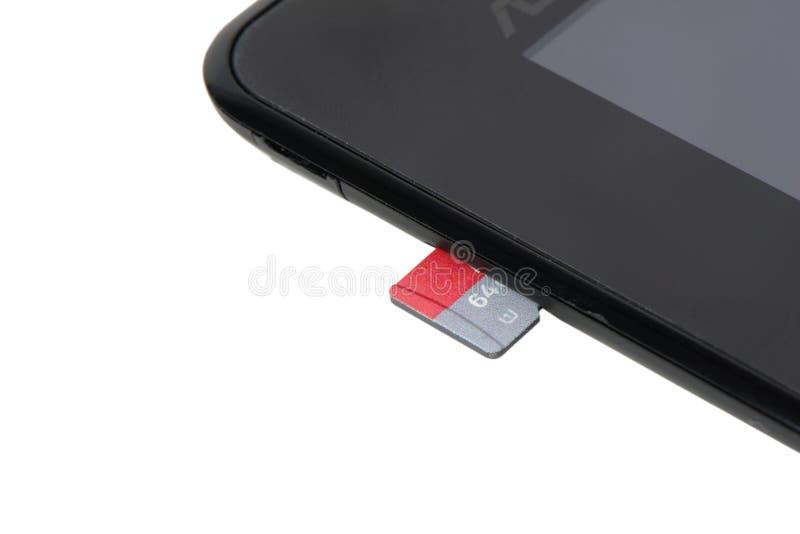 De Kaart van het MicroSDgeheugen stock afbeeldingen