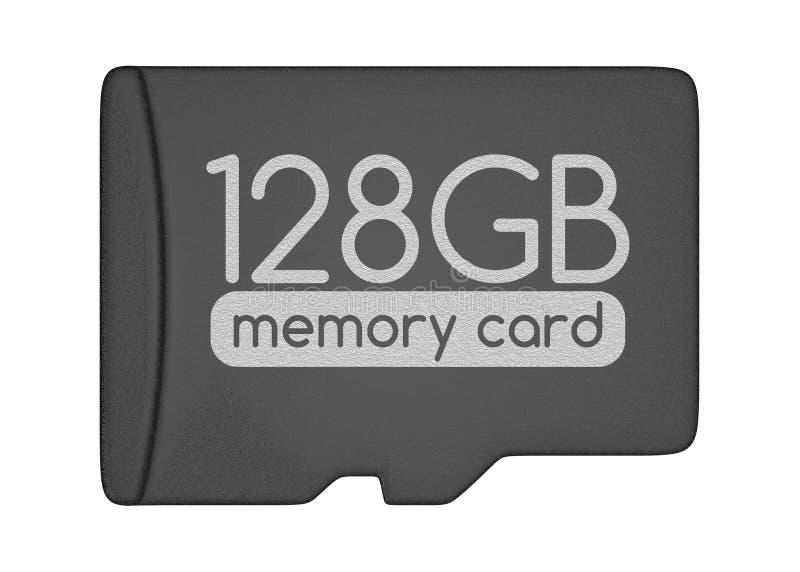 De Kaart van het MicroSDgeheugen stock illustratie