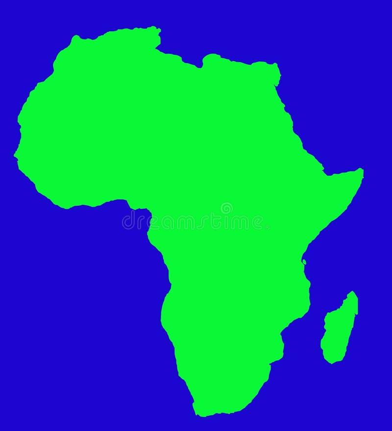 De kaart van het overzicht van Afrikaans continent stock illustratie