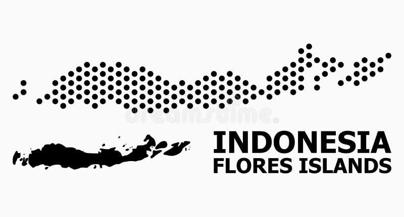 De Kaart van het pixelpatroon van Indonesië - Flores-Eilanden royalty-vrije illustratie