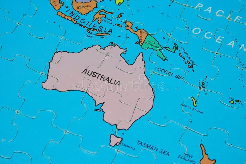 De Kaart van het raadsel (Australië) stock fotografie