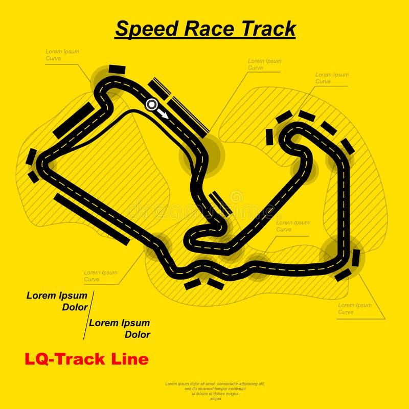 De kaart van het snelheidsras vector illustratie