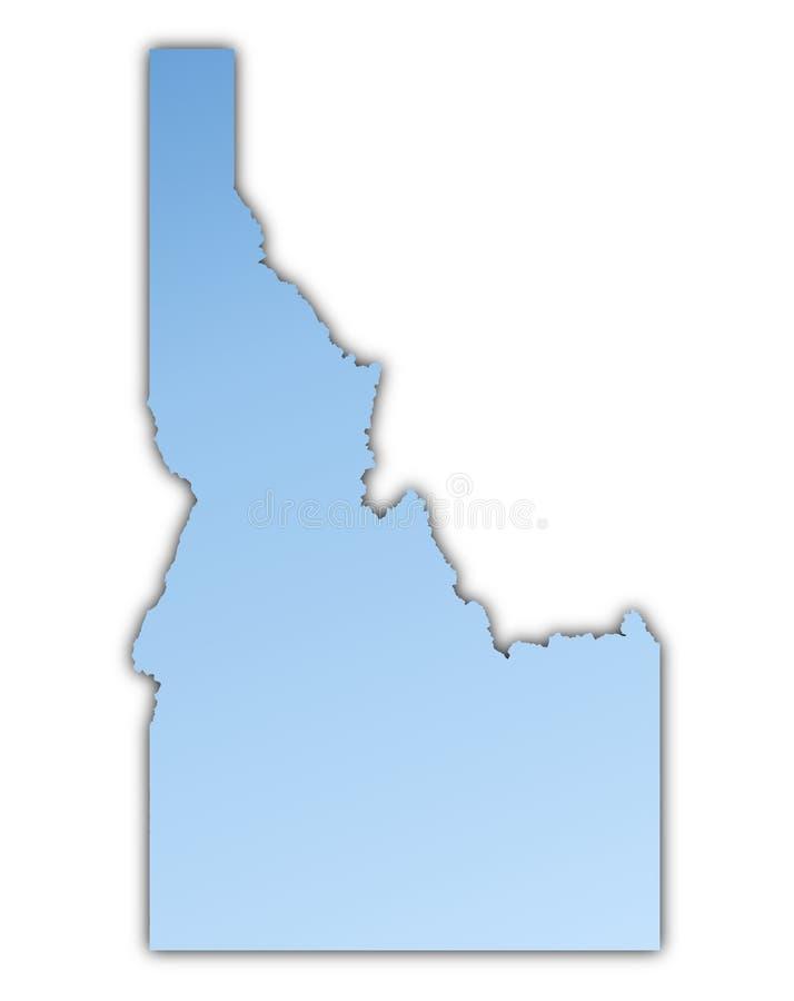 De kaart van Idaho royalty-vrije illustratie