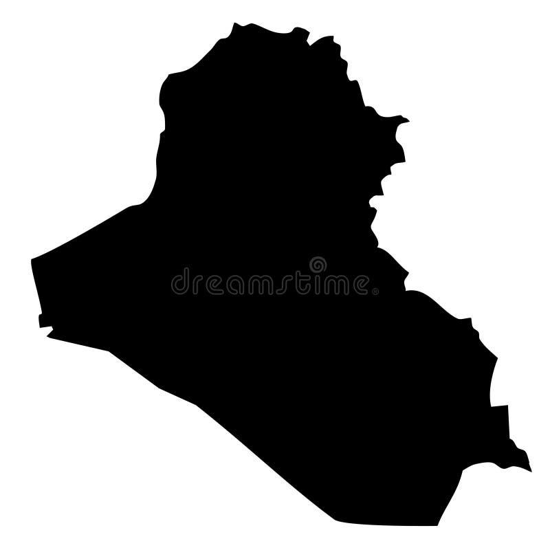De kaart van Irak royalty-vrije illustratie