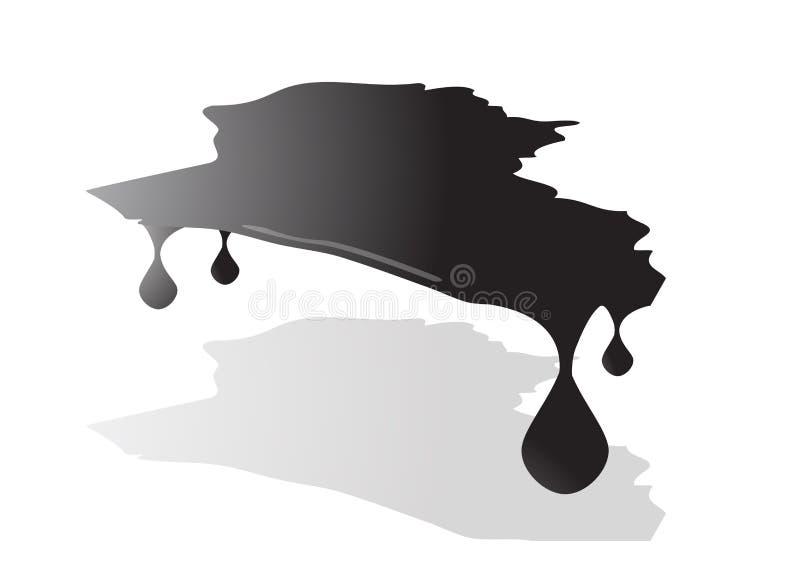 De kaart van Irak Iraakse het dalen olie royalty-vrije illustratie