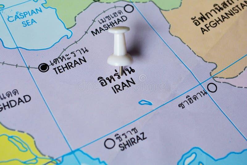 De kaart van Iran stock afbeelding