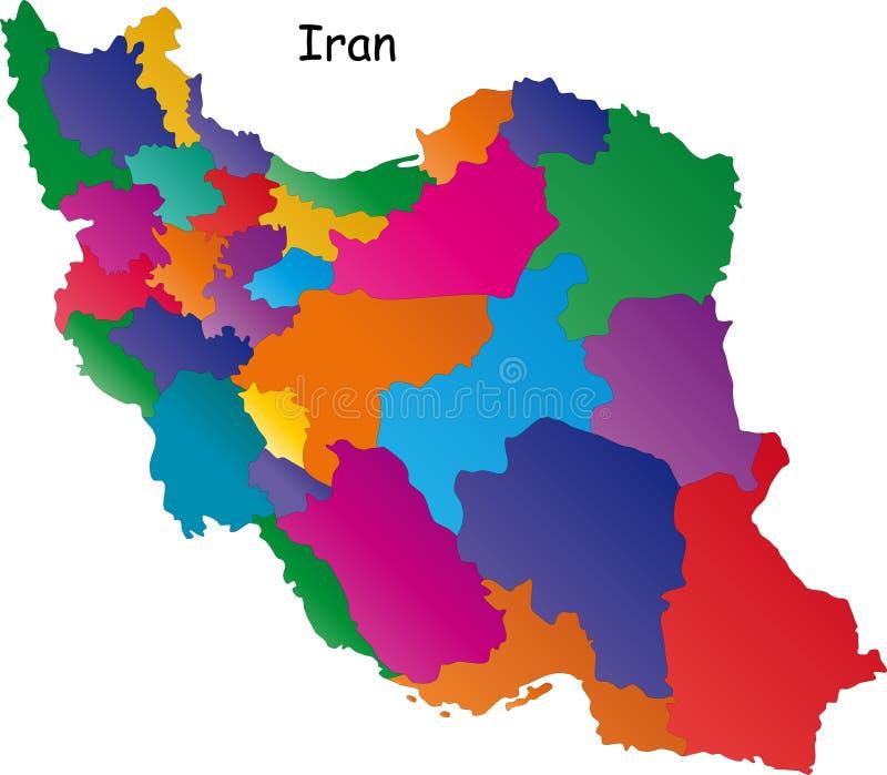 De kaart van Iran royalty-vrije illustratie