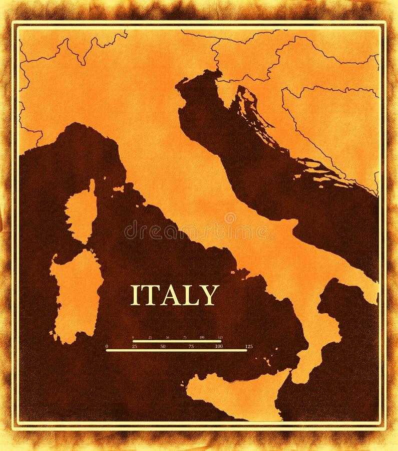 De kaart van Italië stock illustratie