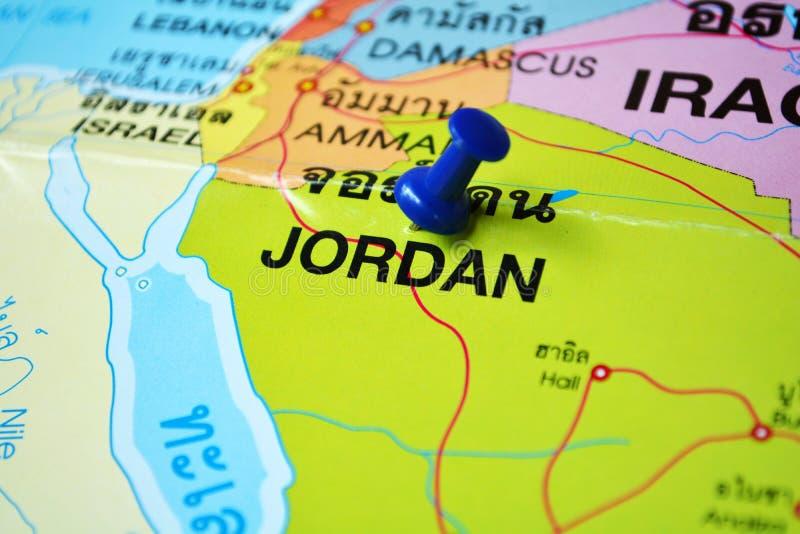 De kaart van Jordanië stock fotografie