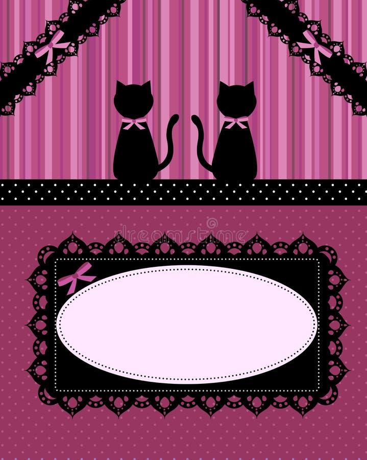 De kaart van katten royalty-vrije illustratie