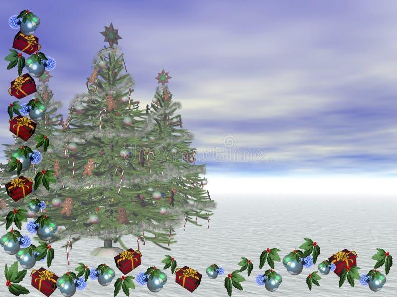 De Kaart van Kerstmis. stock illustratie