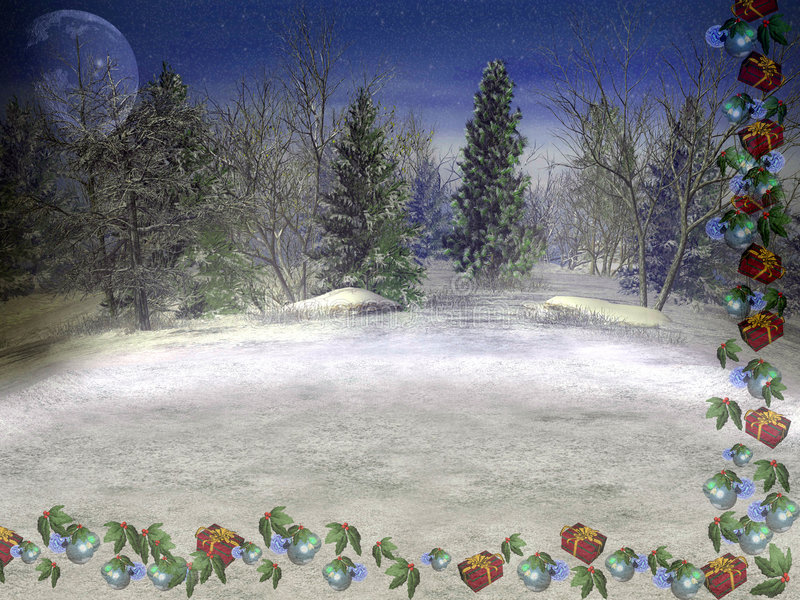 De Kaart van Kerstmis. vector illustratie