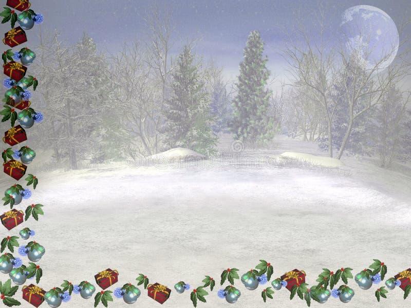 De Kaart van Kerstmis. royalty-vrije illustratie