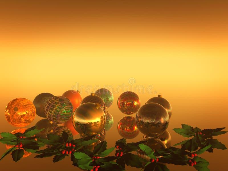 De Kaart van Kerstmis, vakantie vector illustratie