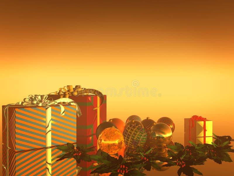 De Kaart van Kerstmis, vakantie stock illustratie