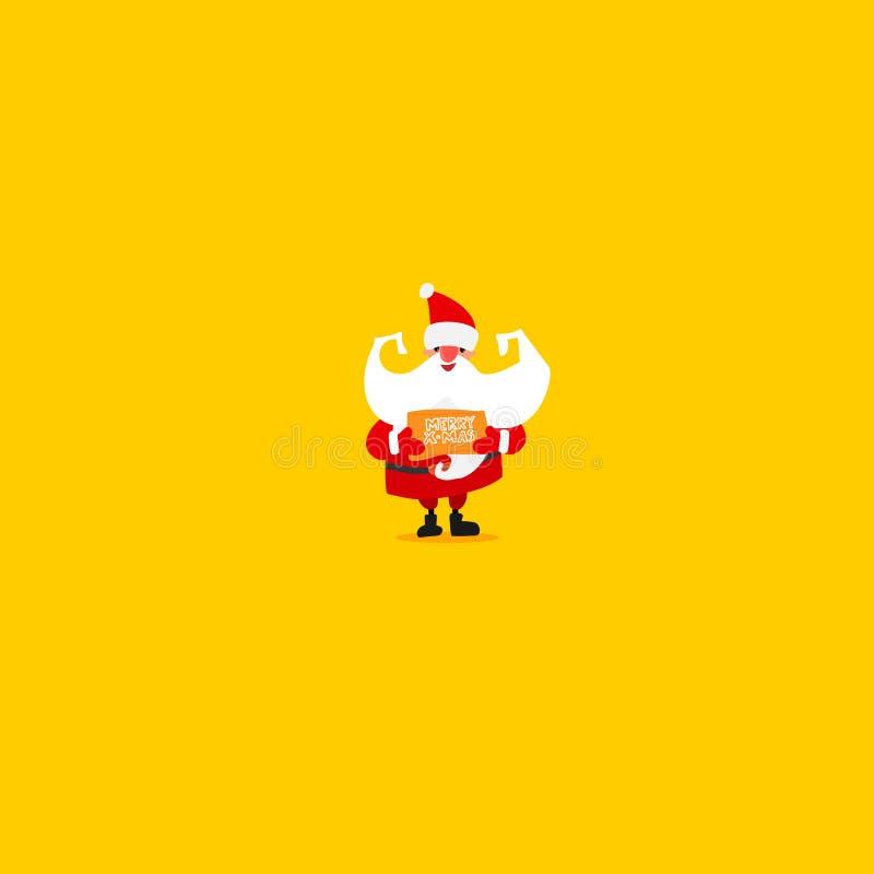 De kaart van de Kerstmiskerstman stock illustratie
