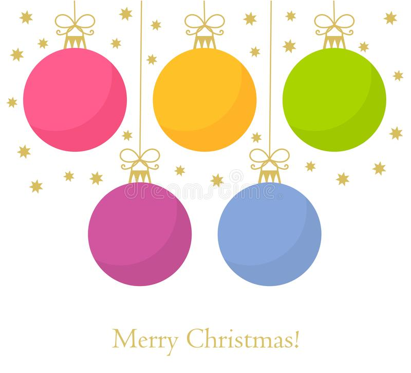 De kaart van Kerstmissnuisterijen vector illustratie