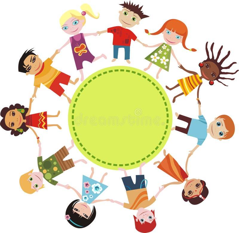 De kaart van kinderen stock illustratie