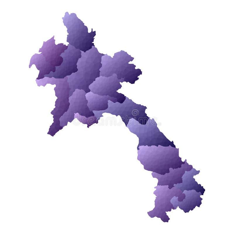 De kaart van Laos royalty-vrije illustratie