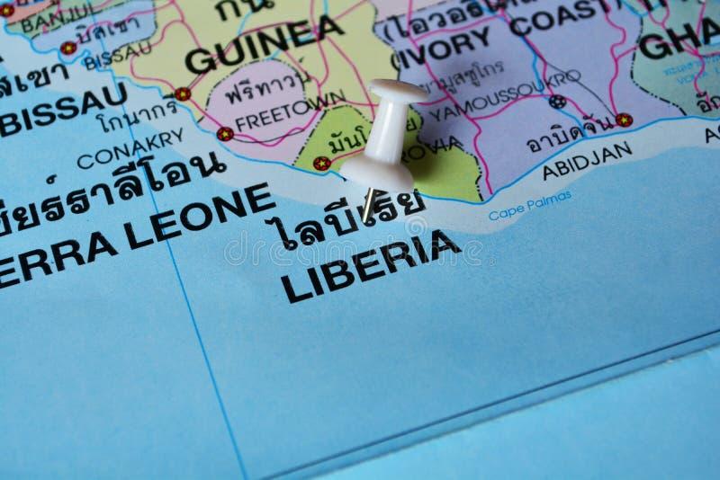 De kaart van Liberia royalty-vrije stock fotografie