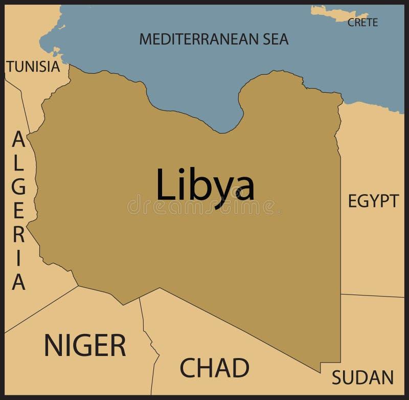 De kaart van Libië. vector illustratie