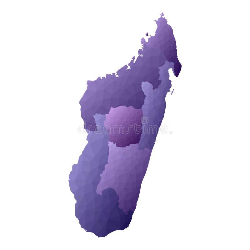 De kaart van Madagascar royalty-vrije illustratie