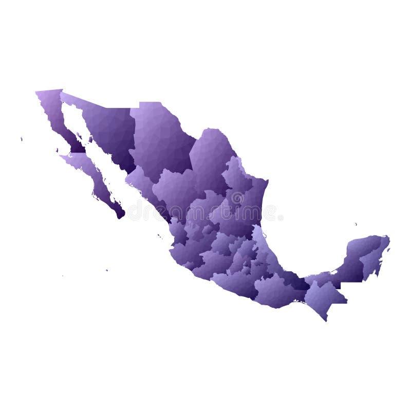 De kaart van Mexico vector illustratie
