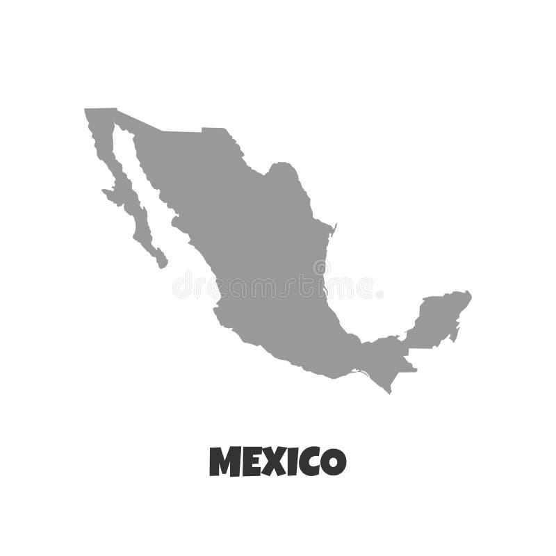 De kaart van Mexico Hoog gedetailleerde kaart van Mexico op witte achtergrond Vector illustratie Eps 10 - Het vector royalty-vrije illustratie