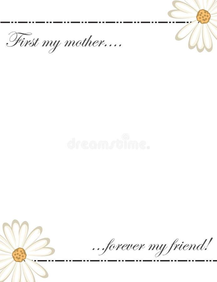 De kaart van de moedersdag - gelukkige moedersdag - eerst mijn moeder voor altijd mijn vriend royalty-vrije illustratie